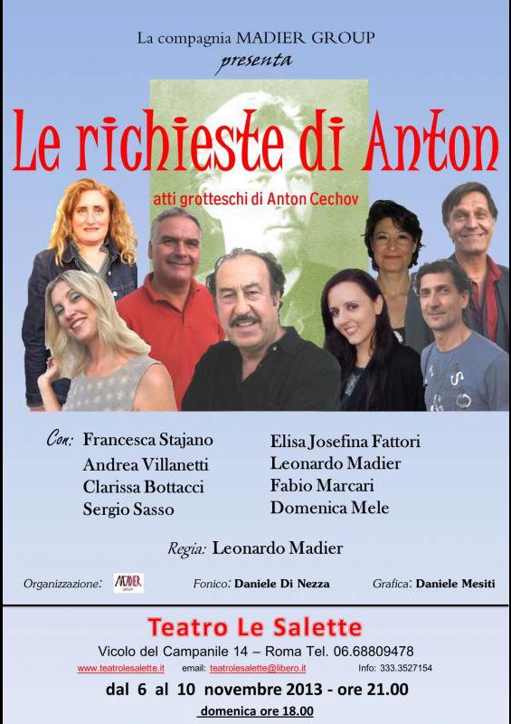 LE RICHIESTE DI ANTON