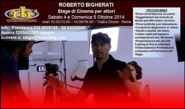 STAGE DI ROBERTO BIGHERATI