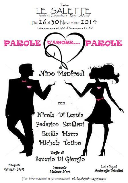 PAROLE D'AMORE…PAROLE