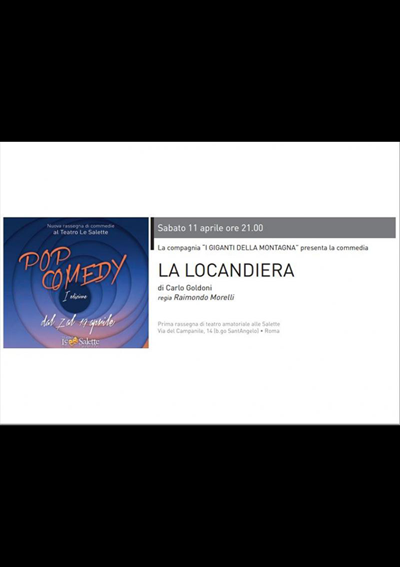 LA LOCANDIERA RASSEGNA POP COMEDY