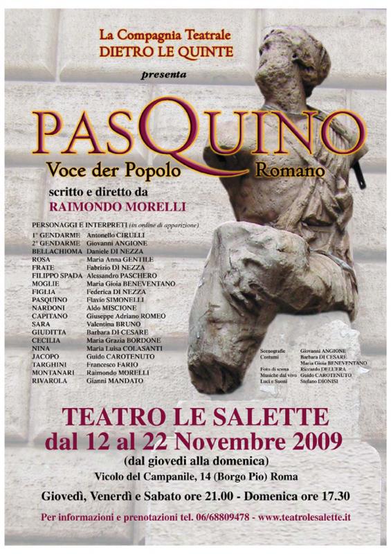 PASQUINO, VOCE DER POPOLO ROMANO