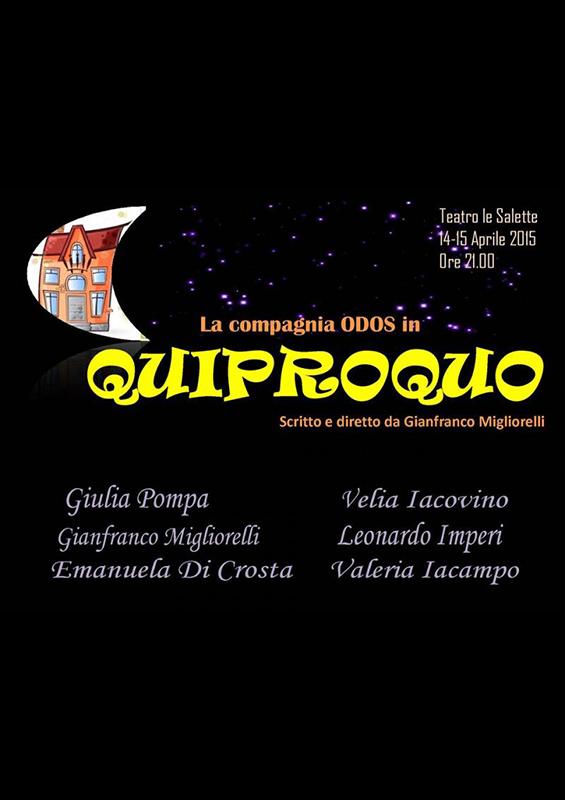 QUIPROQUO RASSEGNA TEATRALE LE SALETTE POP COMEDY